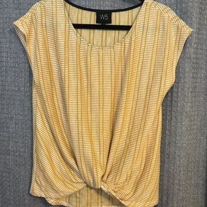 Dark yellow and white knitted top